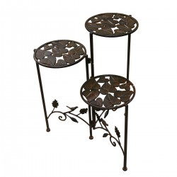 """23"""" Iron 3 Tier Plant Stand"""