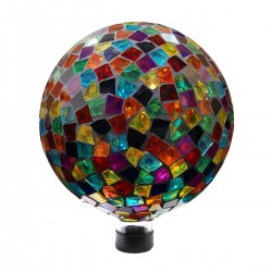 "10"" Mosaic Gazing Ball - Red/Blue/Yellow"