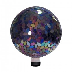 Mosaic Gazing Ball Petal Pattern - Purple