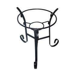 "9"" Gazing Globe Metal Stand - Black"