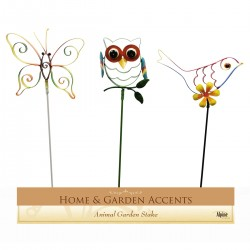 "16"" Animal Garden Stake - Asstd. Display of 24"