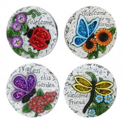 "8"" Welcome Stepping Stones - Assorted Tray Pack of 8"
