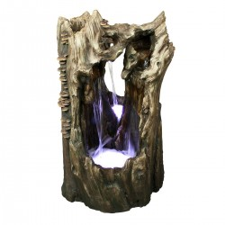 "38"" Rainforest Waterfall Fountain White LED Lights"