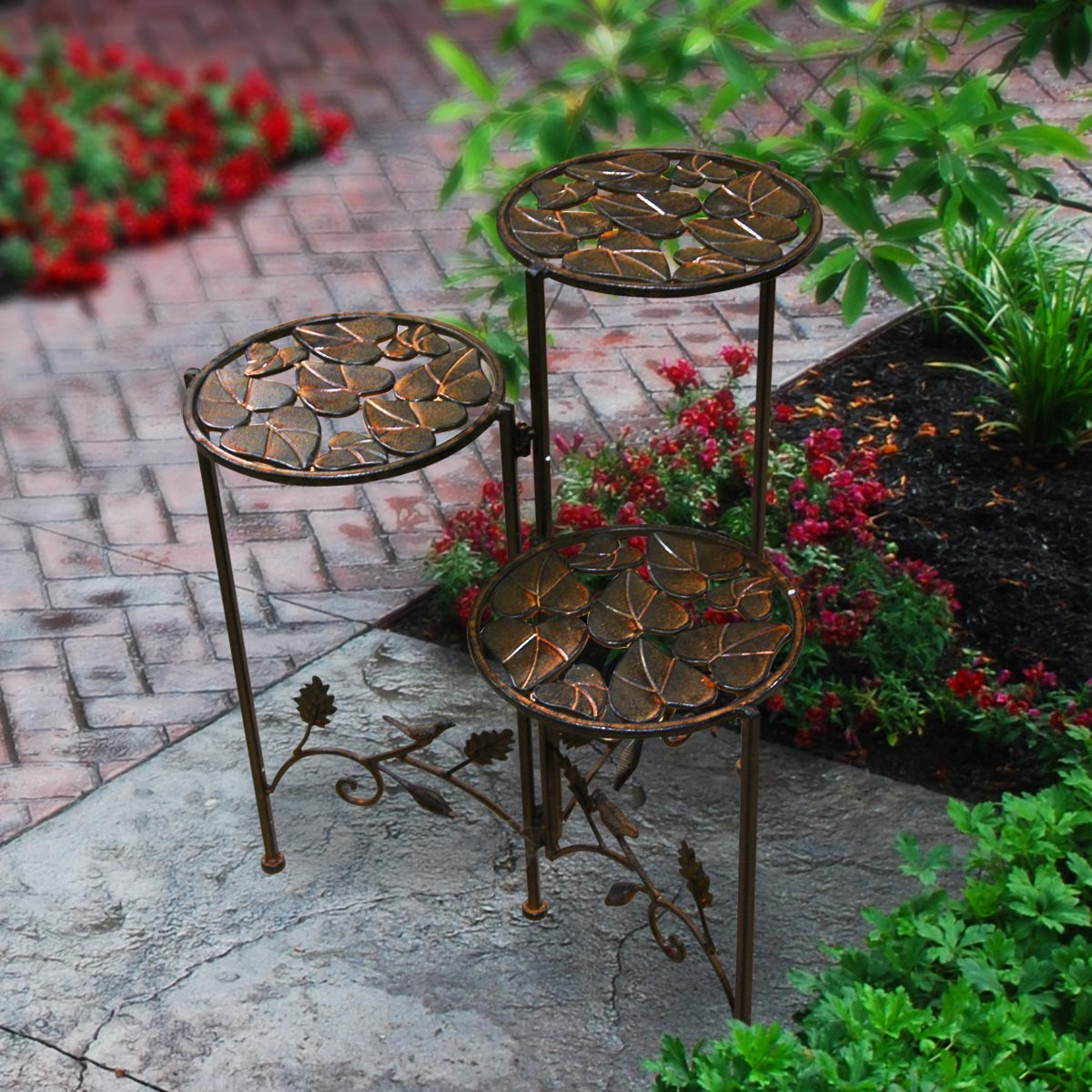 23 Quot Three Tier Iron Plant Stand