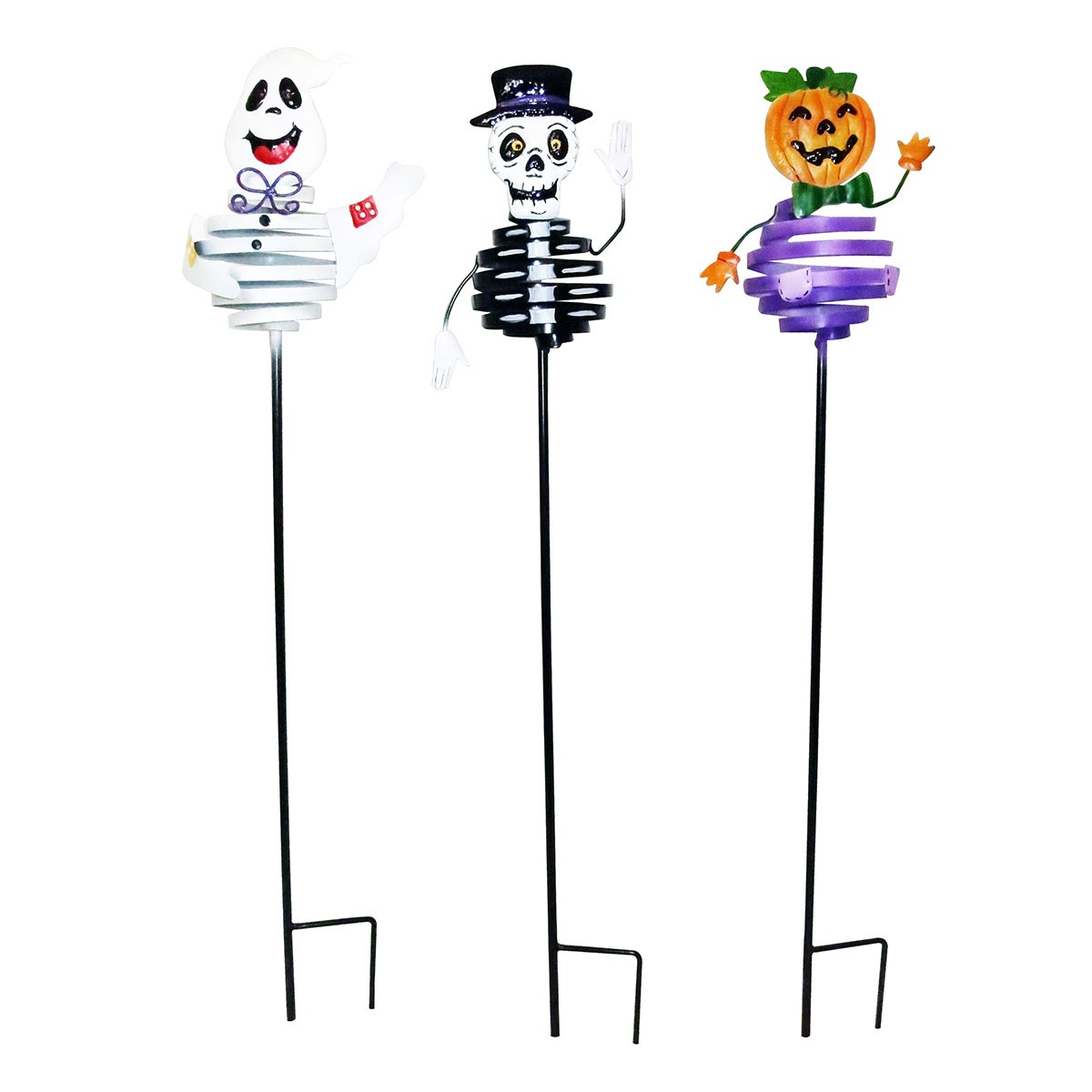 "33"" Metal Spiral Halloween Bouncing Stake - Asstd. Display of 12"