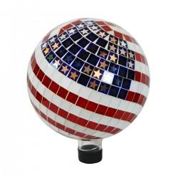 "10"" American Flag Mosaic Gazing Globe"