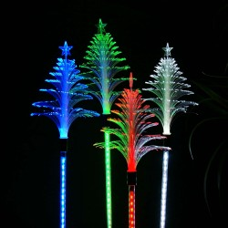 "40"" Solar FIBER Xmas Tree MOTION Stake w/19 LEDs - Tray of 16-TM"