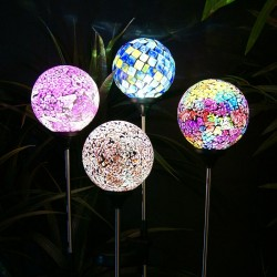 Solar Mosaic Globe Garden Stake - Assorted Display of 16