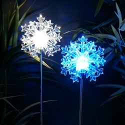 "33"" Solar Snowflake LED Garden Stake - Asstd. Display of 16"