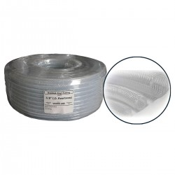 "1/2"" I.D. PVC Clear Braided Tubing x 100' Coil"