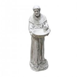 "45"" St. Francis Holding a Birdbath Statue"