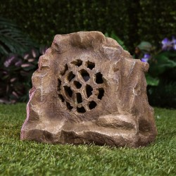 "11"" Solar 360 Brown Bluetooth Enabled Rock Speaker - TM"