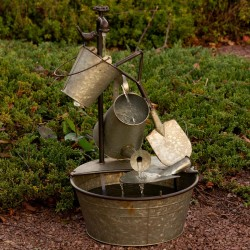 """29"""" Metal Tiered Garden Tools Fountain"""