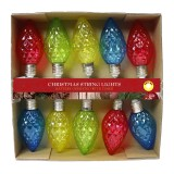Decorative String Lights w/10 LED Light Bulbs - MultiColor