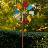 "52"" Multi-Color Metal Windmill Stake"