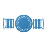 Blue Metal Bistro Set with Two Chairs